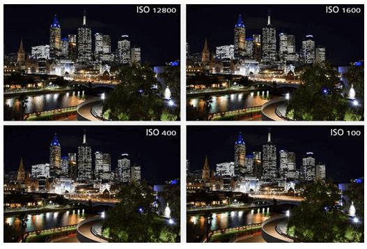Perbandingan foto berdasarkan ISO