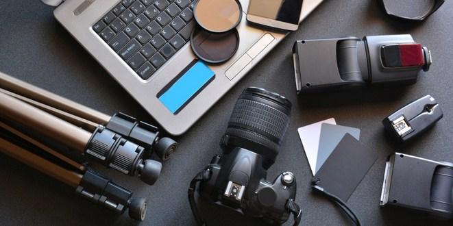 Ilustrasi peralatan fotografi