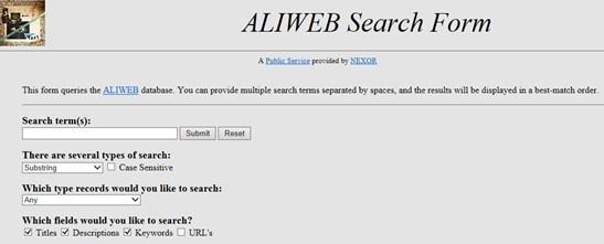 Aliweb - Sejarah mesin pencari