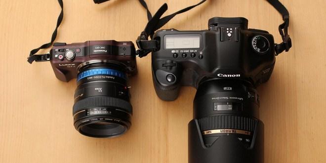 Kamera DSLR dan kamera Mirrorles