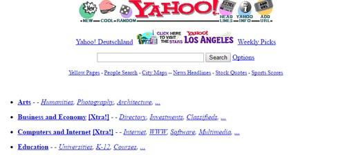 Tampilan Yahoo 1994