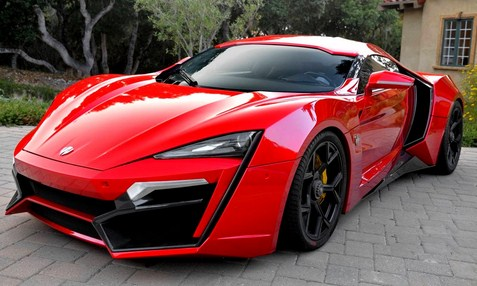 W Motors Lykan Hypersport merah