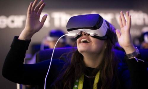 Ilustrasi alat realtitas virtual