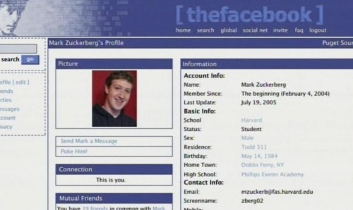 The Facebook saat diluncurkan